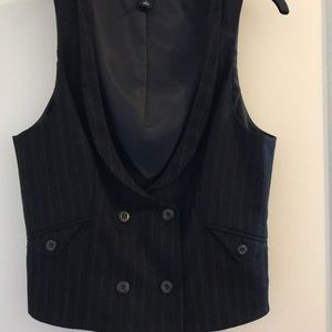 Stylish Double Breasted Vest Pinstripe